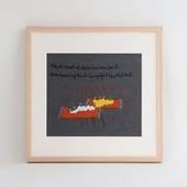 【一点物】モン族の刺繍アート「たくさん欲しがった 002/14」