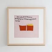 【一点物】モン族の刺繍アート「たくさん欲しがった 003/15」