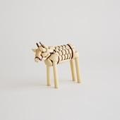 【丑の郷土玩具】きびがら人形 牛