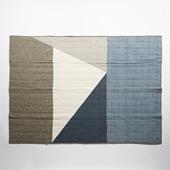 Studio Tolsta Konam スローキルト 137×190 グレー×ブルー