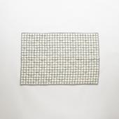 Studio Tolsta ブロックプリントキルト グリット 76×114 ネイビー