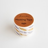 【IDEE TOKYO限定】柚木沙弥郎デザイン IDEE マスキングテープ リーフ グレーイエロー 30mm
