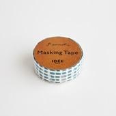 【IDEE TOKYO限定】柚木沙弥郎デザイン IDEE マスキングテープ キューブ グリーン 15mm