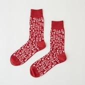 【IDEE TOKYO限定】柚木沙弥郎デザイン IDEE Daily Socks ブロック L