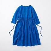 POOL いろいろの服 ギャザーワンピース ロイヤルブルー 2020AW