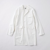 POOL いろいろの服 コットンアトリエコート ホワイト 2020AW【COAT COLLECTION】