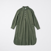 POOL いろいろの服 コットンツイルシャツワンピース チャコール 2020AW