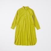 POOL いろいろの服 コットンツイルシャツワンピース イエローグリーン 2020AW