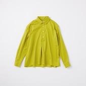 POOL いろいろの服 コットンツイルシャツ イエローグリーン 2020AW