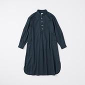 POOL いろいろの服 コットンツイルシャツワンピース ネイビー 2020AW