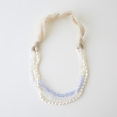 sai Necklace Moonstone,Pearl & Blue Chalcedony