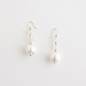 sai Pierce Pearl & Blue Chalcedony