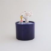 【定番品】Lisa Larson Jar with Lid bird & fish