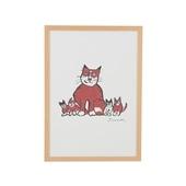 柚木沙弥郎 「親猫子猫」