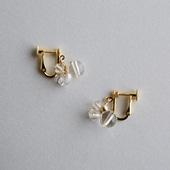 asumi bijoux asatsuyu mini earring crystal