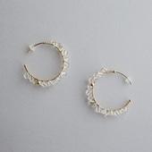asumi bijoux asatsuyu ring hoop pierce crystal