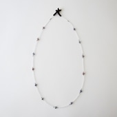 sai Necklace Moonstone,Gray Pearl & Pyrite