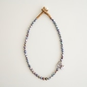 sai Necklace Gray Pearl