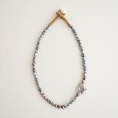 sai Necklace Gray Pearl