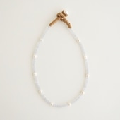 sai Necklace Blue Chalcedony & Pearl