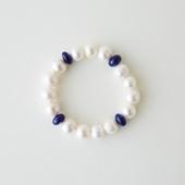 sai Bracelet Lapis Lazuli & Pearl