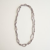 sai Long Necklace Gray Pearl
