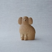 【定番品】Lisa Larson Poodle Brown Mini Right