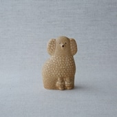 【定番品】Lisa Larson Poodle Brown Mini Left