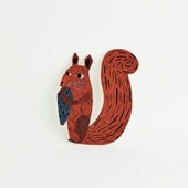 【一点物】マッティ・ピックヤムサ WOOD PAINTING Squirrel