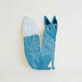 【一点物】マッティ・ピックヤムサ WOOD PAINTING Blue Fox