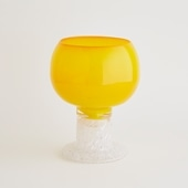 【一点物】kaj Franck Polaali Flower Vase Yellow/フィンランド買付品