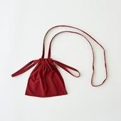 Drawstring Bag Strap レッド XS