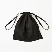 Drawstring Bag ブラック