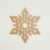 木製コースター snowflake 1