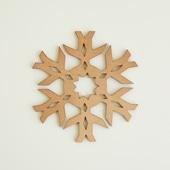 木製コースター snowflake 2