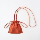 Drawstring Bag Strap オレンジ XS
