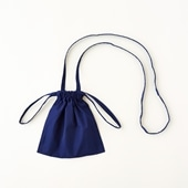 Drawstring Bag Strap ブルー XS
