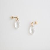 sai Pierce Cut crystal quartz & Stud k10